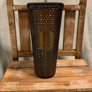 New!  Starbucks black iridescent studded tumbler